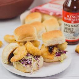 BBQ Katsu Shrimp Sliders