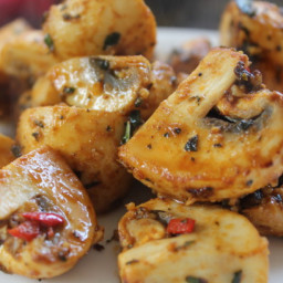 BBQ Mushrooms With Brazilian Spices
