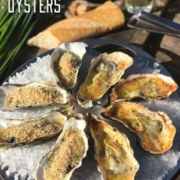 BBQ Oyster with Parmesan-Horseradish Butter