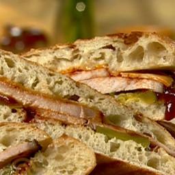 BBQ Pork Panini Sandwich