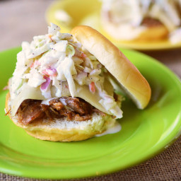 BBQ Pulled Pork and Coleslaw Sandwiches