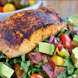 BBQ Salmon BLT Salad