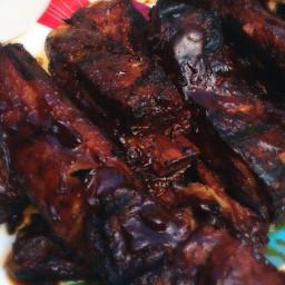 BBQ Crock Pot Ribs from Meri @The Food Yenta {Top 8 Free}