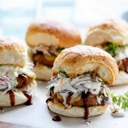 Bbq Turkey and Greek Yogurt 'Slaw Burgers