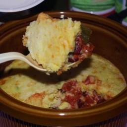 Bean and Cornbread Casserole (Crock Pot)