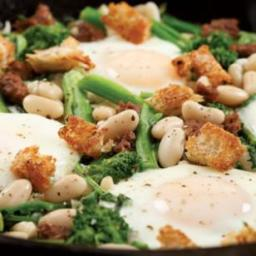 Bean Sausage & Broccoli Rabe Supper