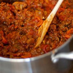 Beanless chili recipe