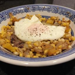Beans & Rice & Corn & Egg Breakfast