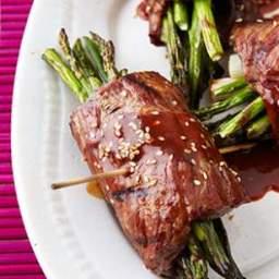 Beef  and  Asparagus Negimaki Rolls