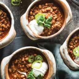 Beef and Black-Eyed Pea Chili