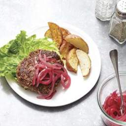 Beef and Bulgur Burgers with Blue Cheese