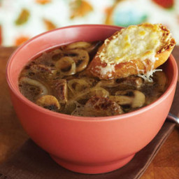 Beef and Cremini French Onion Soup