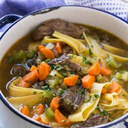 Beef & Egg Noodle Soup