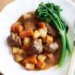 Beef and plum casserole