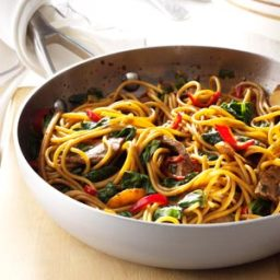 Beef and Spinach Lo Mein Recipe