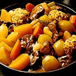 Beef and Vegetable Stew with Crusted Onion Dumplings