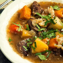Beef and Winter Vegetable Soup Recipe