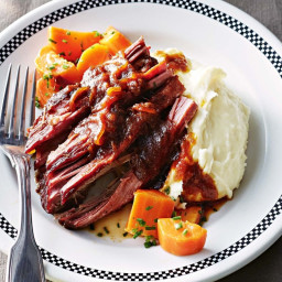 Beef brisket with horseradish mash