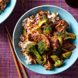 Beef & Broccoli with Persimmon Rice