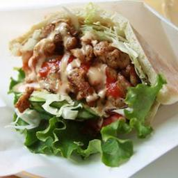 Beef, Ham and Chicken Tripleta In Pita Bread