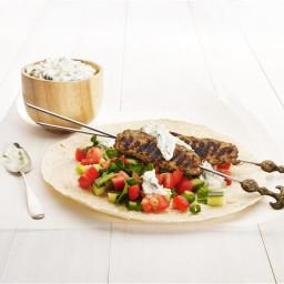 Beef kofta with tzatziki