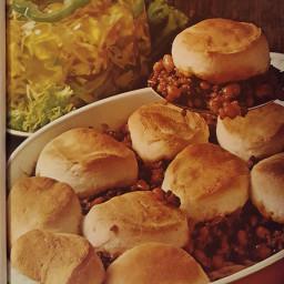 Beef 'N Bean Biscuit Bake