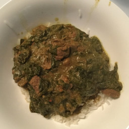 Beef or Lamb Curry With Spinach