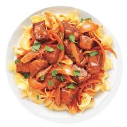 Beef Paprikash With Egg Noodles