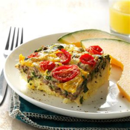 Beef, Potato and Egg Bake Recipe
