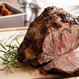 Beef Rib Roast with Yorkshire Pudding