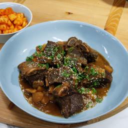 Beef Short Rib Stew (Slow Cooker Kalbijjim)