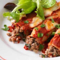 Beef, spinach and chilli cannelloni