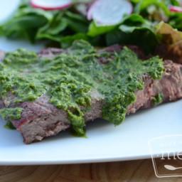Beef Steaks in Herb Sauce