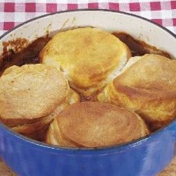 Beef Stew with Biscuits