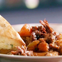 Beef Stew with Cream Biscuits