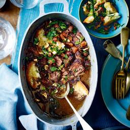 Beef stew with hazelnut picada