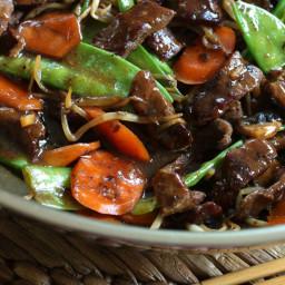 Beef Stir-fry with Snow Peas and Mushrooms