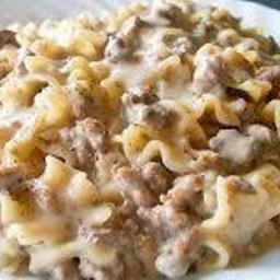 Beef Stroganoff Hamburger Helper