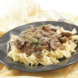 Beef Stroganoff with Cremini & Porcini Mushrooms