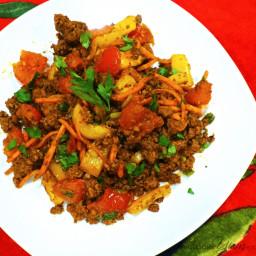 Beef Taco Veggie Skillet (Paleo, Low Carb)