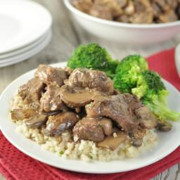 Beef Tips in Mushroom Brown Gravy - Low Carb, Gluten Free, Primal