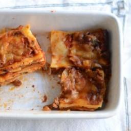 Beef & Veggie Lasagna with Ricotta