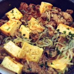 Beef and String Konnyaku Sukiyaki
