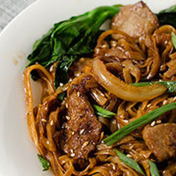 Beef Chow Fun with Chinese Broccoli