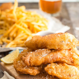 Beer Battered Tilapia Fish and Chips