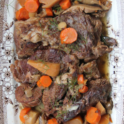 Beer-Braised Brisket with Root Vegetables