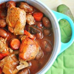 Beer-Braised Chicken and Root Vegetable Stew