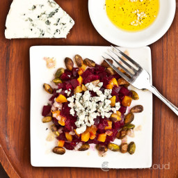 Beet and Blue Cheese Salad with Pistachio