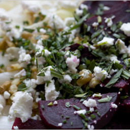 Beet and Endive Salad with Walnuts