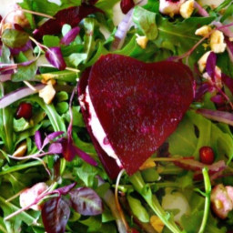 Beet and Goat Cheese Hearts
